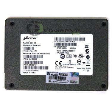 Micron C400 256GB SATA 6Gb/s NAND SSD MTFDDAK256MAM-1K12 665180-003 694683-001