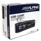 Alpine CDE-125BT In-Dash CD MP3 Receiver Radio Audio Bluetooth Hands Free Call