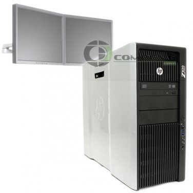 HP Z820 Video Wall 4 Monitor E5-2640 2.5 GHz 24GB RAM 500GB SSD NVS 510  Win7