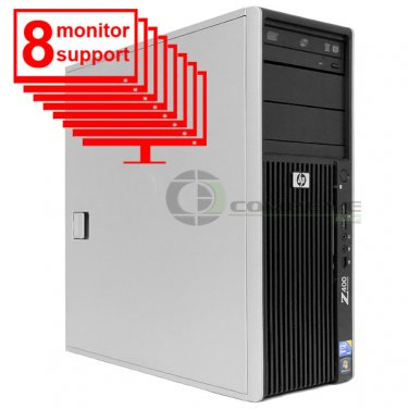 8 Monitor Trading PC HP Z400 Workstation Xeon W3505 2.53Ghz 4GB 250GB Win7 Pro