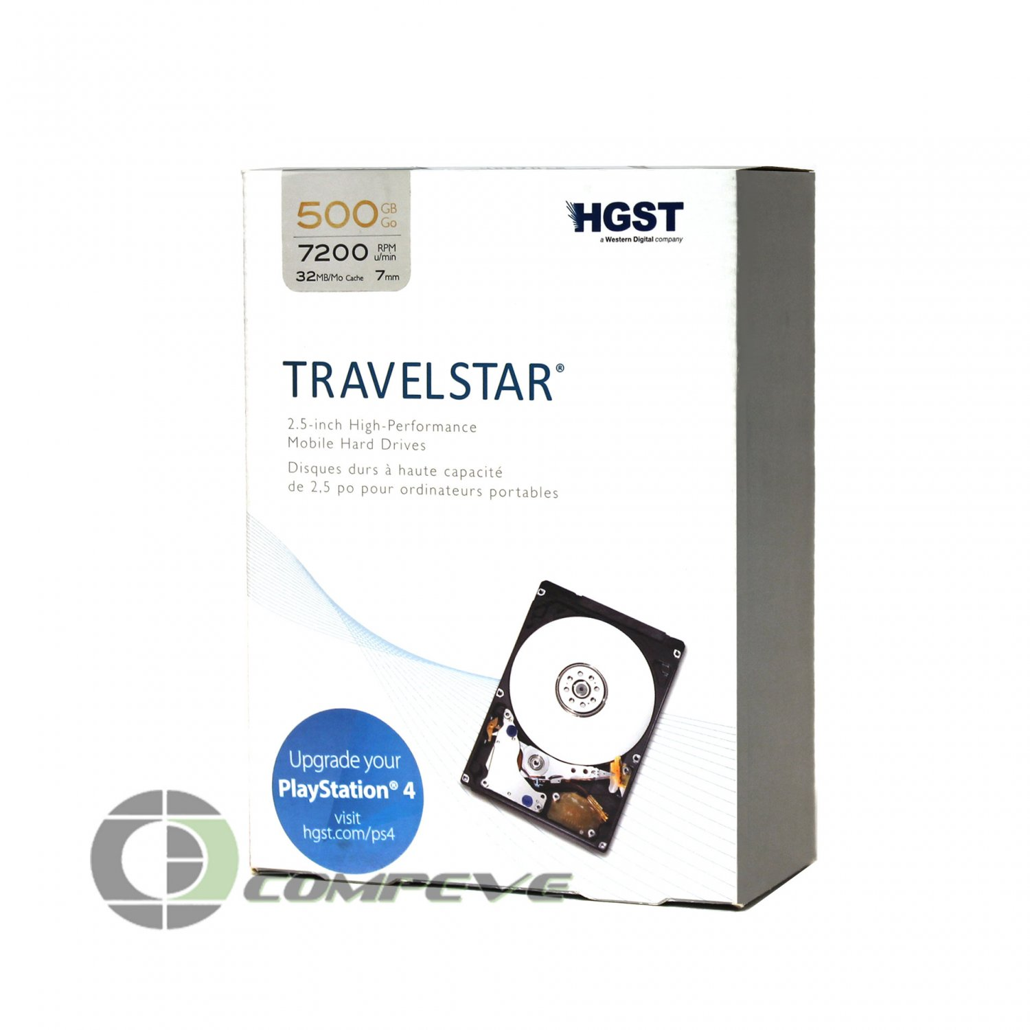 "HGST Travelstar 500GB HTS725050A7E630 0J26005 7200RPM 2.5"" Notebook Hard Drive"