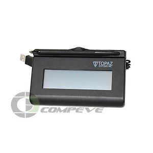 Topaz SigLite LCD 1X5 T-LBK460-BSB-R Signature Terminal w/ LCD display 4.4 x 1