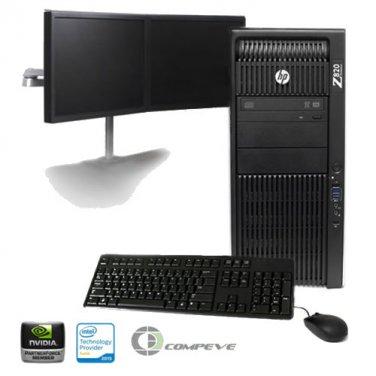 HP Z820 Workstation Intel 2x E5-2640 2.5GHz/ Nvidia K2000/ 24GB RAM/ 1TB / Win7