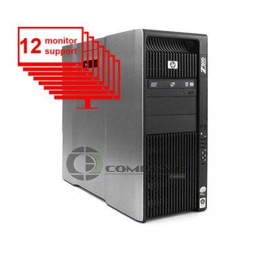 HP Z800 Multi 12-Monitor Computer/Desktop 8-Core/1TB + 256GB SSD/ NVS 450/Win10