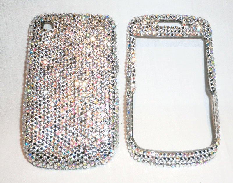 Rhinestones Blackberry Curve 8520 bling case -10ss crystals