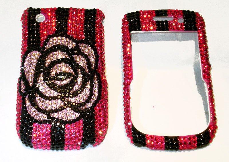 Camellia rhinestones Blackberry Curve 8530 bling case
