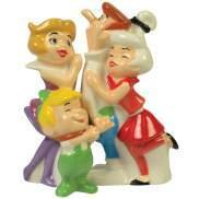 The JETSONS George, Jane, Elroy and Judy Family Salt & Pepper
