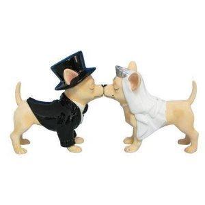 MWAH Aye Chihuahua Bride and Groom Wedding Salt Pepper
