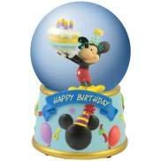 Disney Mickey Mouse Happy Birthday Musical Water Globe Home Decor