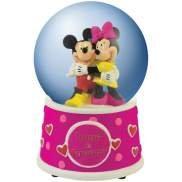 Disney Mickey & Minnie Hugs Kisses 85MM Musical Waterglobe Figurine