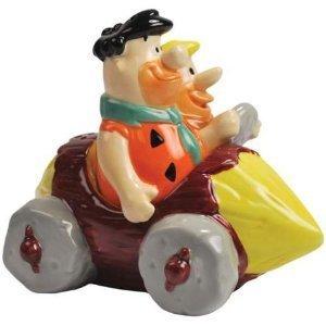 THE FLINTSTONES Fred & Barney In Car Salt & Pepper
