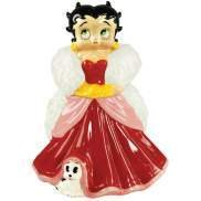 Betty Boop wearing Red Party Gown Cookie Jar