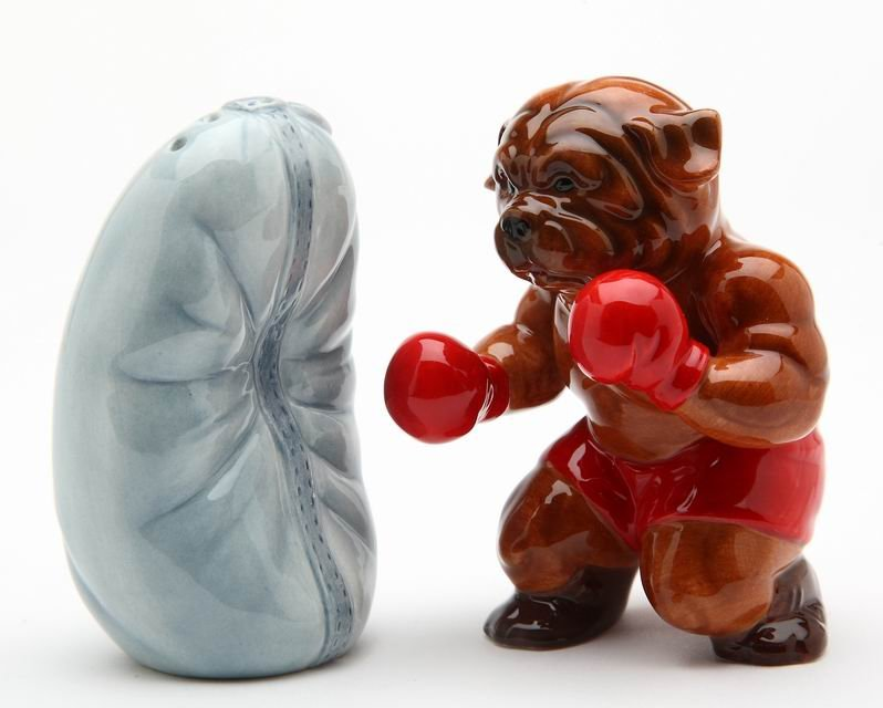 Boxing Bulldog Salt and Pepper
