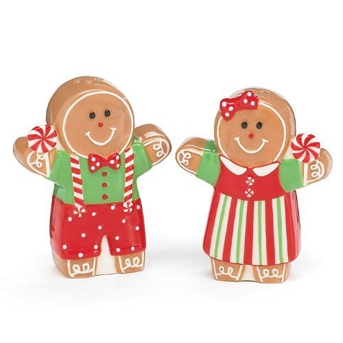 Gingerbread Girl And Boy Salt and Pepper Shaker