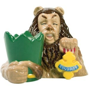 Wizard of Oz Cowardly Lion and Badge Salt and Pepper