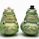 See, Hear and Say No Evil ! Fairy Frog Salt and Pepper
