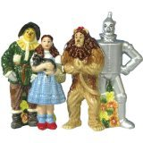 Wizard of Oz Tinman, Scare Crow, Cowardly Lion and Dorothy Salt and Pepper