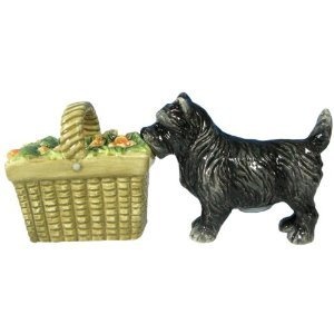 Wizard Of Oz Toto Dog and Basket Salt & Pepper