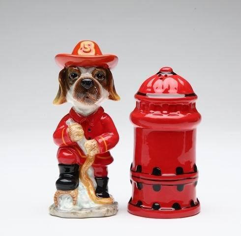 Fire Fighter Dog Salt and Pepper