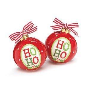Christmas - Santa say Ho Ho Ornament Salt and Pepper