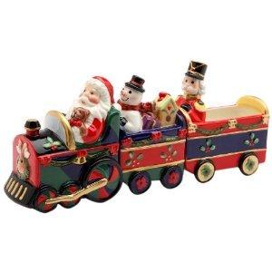 Santa Driving A Christmas Train Magnetic Salt & Pepper
