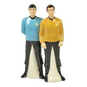 Star Trek Captain Kirk and Spock Salt and Pepper