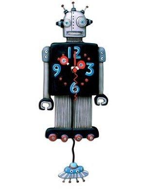 """MICHELLE ALLEN Robot """"Roboto"""" Clock"""