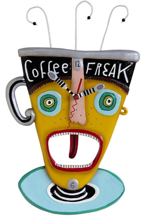 "MICHELLE ALLEN ""Freaky Coffee"" Coffee Mug Shaped Clock"