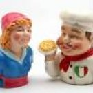 Italian Chef Cook Taste Of Italy Food Salt and Pepper