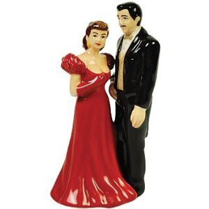 Gone With The Wind Rhett & Scarlett In Red Dress Salt and Pepper