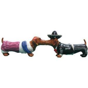 MWAH Hot Diggity Dachshund Dog Magnetic Senorita and Mariachi Salt and Pepper