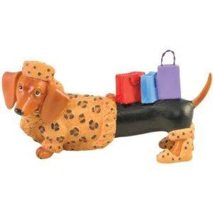 Hot Diggity Dachsund Dog Fur Lover Mini Figurine Home Decor