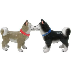 MWAH Magnetic Siberian Huskies Salt and Pepper Shaker Set