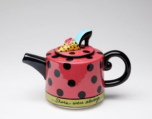 Whimsical Shoe On Her Mind Tea Pot