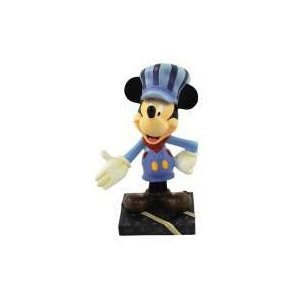 "Disney Mickey Mouse ""All Aboard"" Train Conductor Mini Figurine Home Decor"