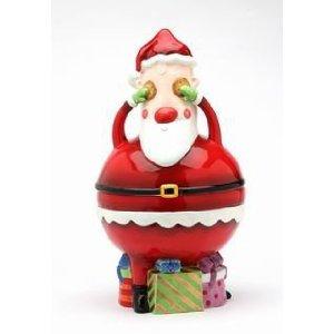 Christmas No Peeking Santa Cookie Jar