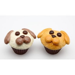 Dog Couple Cupcake Salt and Pepper Shaker Set