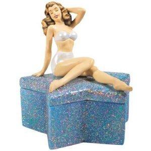 Marilyn Monroe Crystal Star Trinket Box