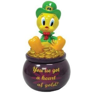 LOONEY TUNES TWEETY IRISH YOU'VE GOT A HEART OF GOLD! TRINKET BOX
