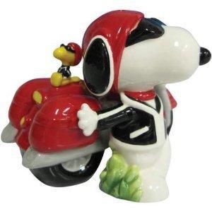 Peanuts Snoopy Joe Cool, Woodstock & Motorcycle Salt and Pepper