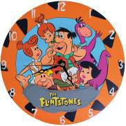 The Flintstones Family Fred, Wilma, Barney, Betty, Pebble and Dino Wall Clock