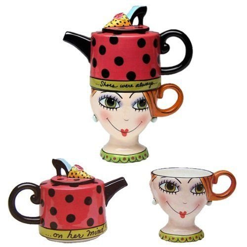 Whimsical Shoe On Her Mind Tea For One From Sugar High Social by Babs Collection