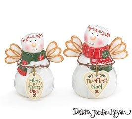 Christmas Snow Angel Snowman Salt and Pepper