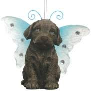 Keith Kimberlin Chocolate Lab Dog With Wing Ornament