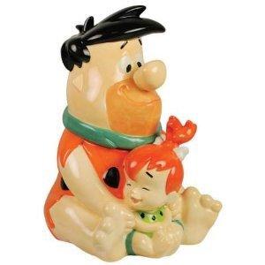 The Flintstones Fred and Pebbles Cookie Jar