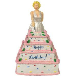 Marilyn Monroe Musical Happy Birthday Cake Figurine Or Cake Topper