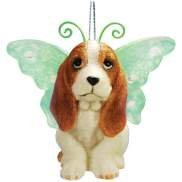 Keith Kimberlin Bassett Hound Dog With Wing Ornament