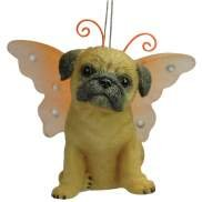 Keith Kimberlin Pug Dog With Wing Ornament