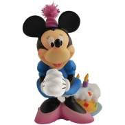 Disney Happy Birthday Minnie Mouse With Birthday Cake Figurine Or Cake Topper