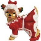 Aye Chihuahua Mrs Claus Chihuahua Dog Ornament